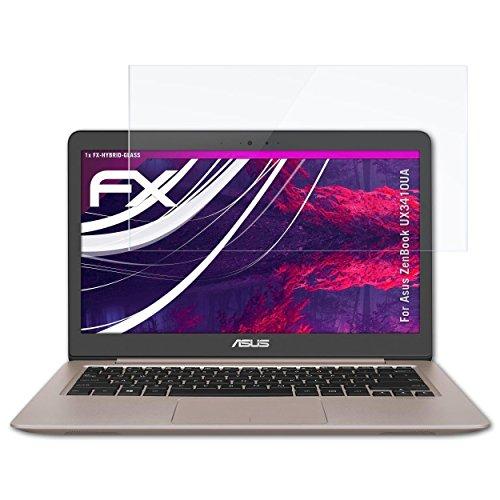 atFolix Glasfolie kompatibel mit Asus ZenBook UX3410UA Panzerfolie, 9H Hybrid-Glass FX Schutzpanzer Folie