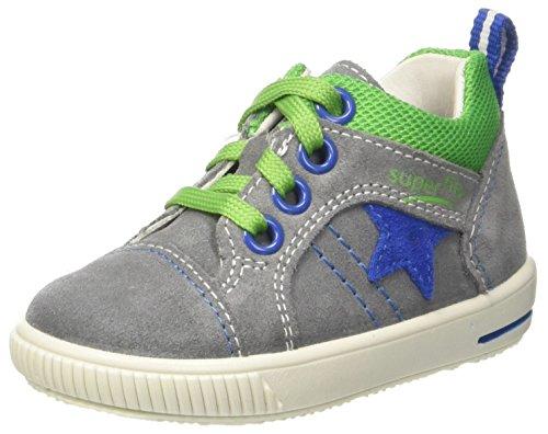 Superfit Baby Jungen Moppy Sneaker, Grau (Smoke Kombi), 24 EU