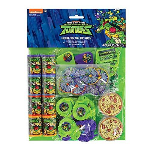 Amscan International Amscan 3900693 Masken für Kinder, Motiv: The Rise of Teenage Mutant Ninja Turtles, 48 ()