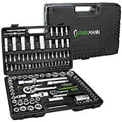 STARKMANN Greenline 108 teiliger Steckschlüssel-Satz Ratschenkasten Werkzeug-Kasten