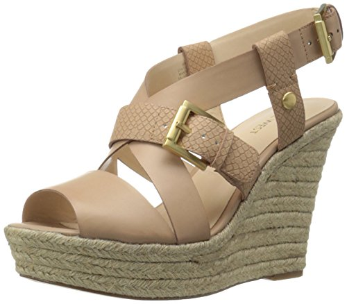 Nine West Jentri Synthetik Keilabsätze Sandale Natu/Nat