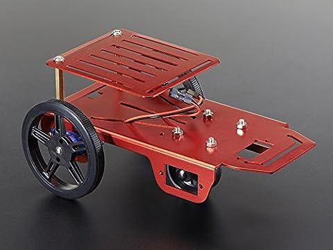 Feetech 2WD Mini Robot Plattform inkl. 2x FM90 Getriebemotor + Fahrregler
