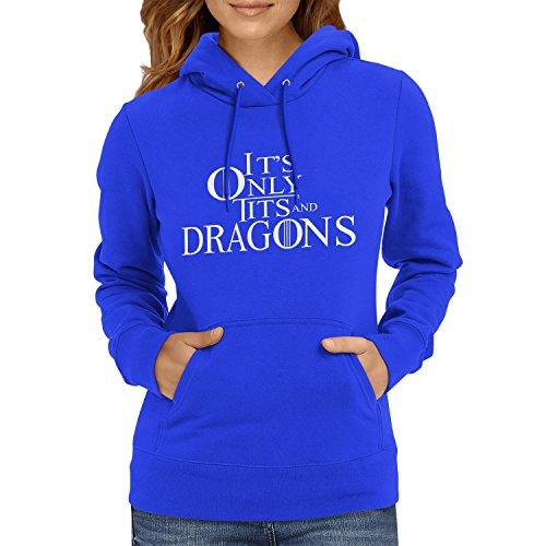 TEXLAB - Tits and Dragons - Damen Kapuzenpullover, Größe S, marine