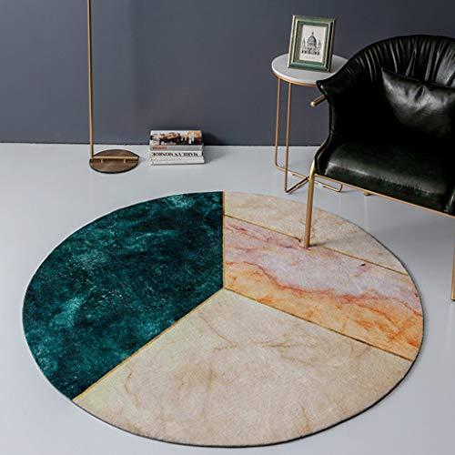 Moderner runder Luxusteppich, weicher grüner Einfachheitsteppich Hauptdekor-Läufer-Bereichs-Teppich-rutschfeste Bodenmatte für Wohnzimmer-Sofa-Studien-Balkon-Schlafzimmer ( Size : 150cm ) (8 Ft Runde Bereich Teppich)