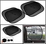 #9: Universal Car Window Sunshades with Vacuum Cups (Set of 4, Black) For all cars