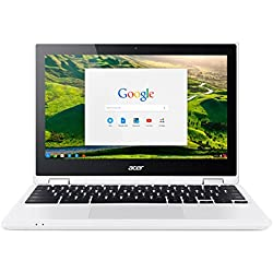 "Acer Chromebook CB5-132T-C8VM Ordinateur 2-en-1 Tactile 11"" HD Blanc (Intel Celeron, 4 Go de RAM, Mémoire 32 Go, Intel HD Graphics, Chrome OS) Ancien Modèle"