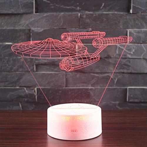 LED Nachtlicht Beleuchtung, TechCode® Individualität 3D Kunstskulptur Kreative Dekorative Nachtlicht LED Tischleuchte Romantische Freunde Geschenke Versenden (A23) (Bluetooth Outdoor Lautsprecher-tabelle)