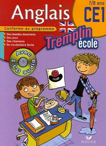 Tremplin Anglais Ecole CE1 : 7/8 Ans (1CD audio)