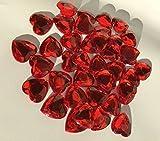 80 Stück glitzernde Strasssteine Deko Herzen 20mm rot basteln Gltzersteine Schmucksteine Strass Steine zum Verzieren Dekoration Liebe von CRYSTAL KING