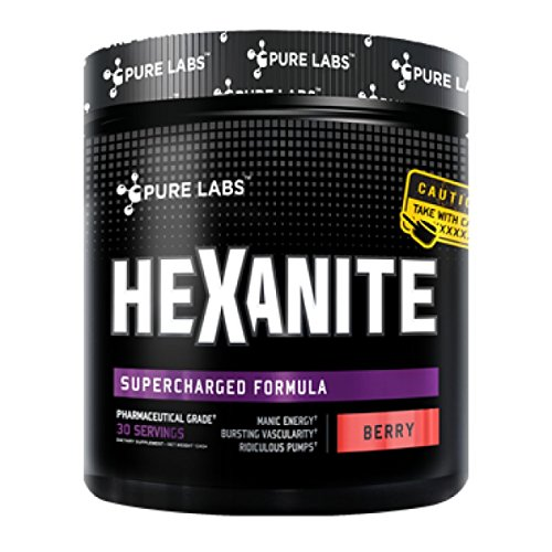 Pure Labs HEXANITE Extreme Pre Workout Trainingsbooster 372g Berry Blast - Xtreme Berry