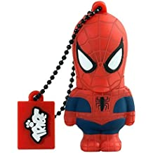 Tribe Disney Marvel Avengers Spiderman - Memoria USB 2.0 de 8 GB Pendrive Flash Drive de goma con llavero, color rojo