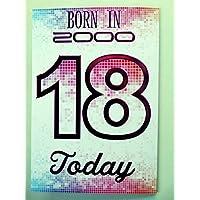 Special Days 18th Tarjeta de 18cumpleaños 2000año You Were Born hembra año varios hechos en el interior