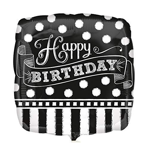 nballon ''Happy Birthday'' Tafel - mit Helium | Heliumballon | Ballon | Dekoballon | Luftballon | Geburtstagsballon ()