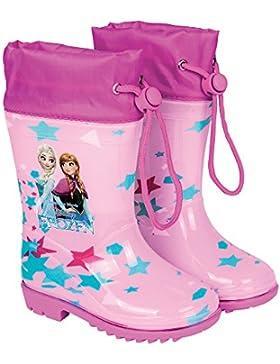 Botas de Agua Disney Frozen - Botines Impermeables para Niña con Suela Antideslizante y Cierre con Cordón - Estampado...