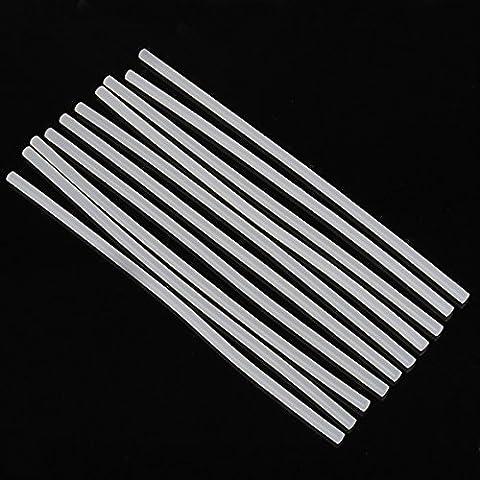 10 Pcs/lot 11mm 7mm Transparent Hot Melt Glue Sticks con Bags - 10 Glue