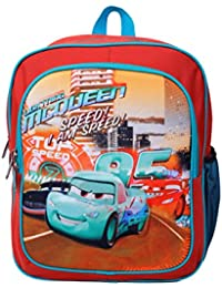 BagsRUs Orange Racer 8 Liter 95 Car Print Kids School Leisure Backpack Bag  - Medium ( f9a3c7a38c1ca