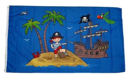 Flagge / Fahne Piratenschiff Schatzinsel 90 x 150 ()