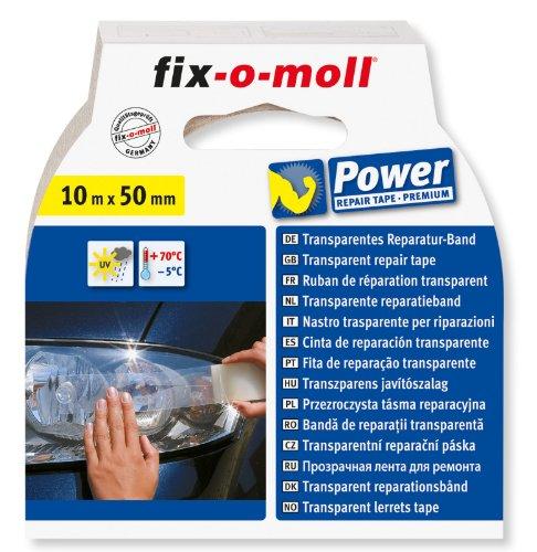 fix-o-moll Power-Band Allwetter 10 m x 50 mm selbstklebend transparent, 3563092