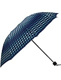 Umbrella Mart 3 Fold Digital Printed Rain & Sun Protective Umbrella (Blue/Multi)