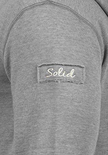 SOLID Trip-Zip Herren Sweatjacke Kapuzen-Jacke Zip-Hoodie mit optionalem Teddy-Futter aus hochwertiger Baumwollmischung Light Grey Melange (8242)