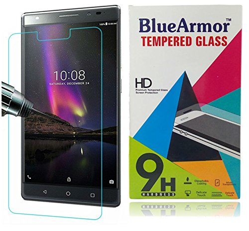 BlueArmor Premium Pro Tempered Glass Screen Guard Protector for Lenovo Phab 2 Plus