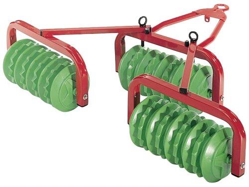 *Rolly Toys 123841 Walze Cambridge, mit 3 großen Walzen, Metall- Kunststoffkombination (geeignet für Kinder ab 3 Jahren, Farbe Grün/Rot)*