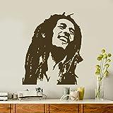 vinilo decorativo Bob Marley. Color marrón. Medidas: 60x70cm.