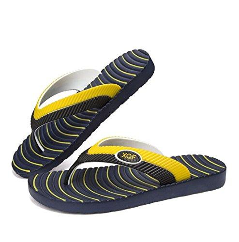 Men's All Match Beach Flip Flops Slippers blue