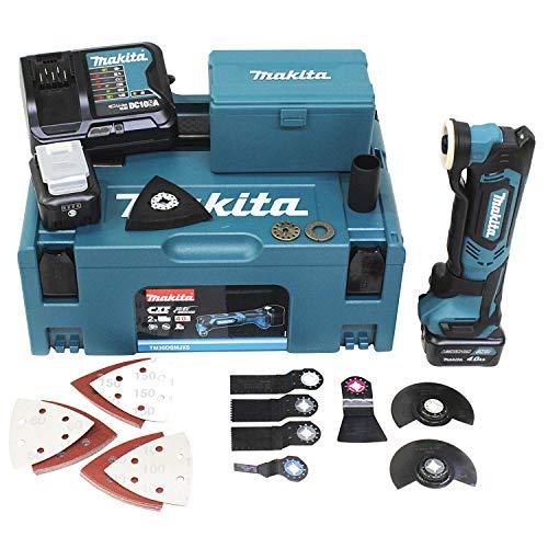 Makita TM30DSMJX5 Akku-Multifunktionswerkzeug 10,8 V / 4,0 Ah, 2 Akkus, Ladegerät, Makpac inklusiv 41-teilig Zubehör-Set, 1 Stück