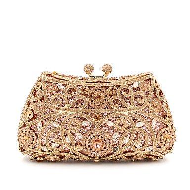 SUNNY KEY-Pochette e Clutch@Donna Metallo Formale / Serata/evento / Matrimonio Borsa da sera , khaki rose gold