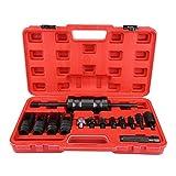 Zerone Auszieher Werkzeug,14 Stücke Common Rail Injektor Extractor Diesel Abzieher Set Einspritzwerkzeug Kit für Siemens Denso