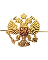 Russian Army Military Imperial Eagle Crest Cossack Trapper Ushanka Hat Cap Beret Metal Pin Badge Kokarda