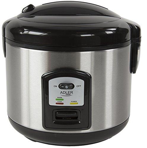 Reiskocher | 1,5 Liter | Multikocher | Dampfgarer | Dampfgargerät | Edelstahl Schnellkochtopf | Reis Kochtopf | Warmhaltefunktion | Automatische Abschaltfunktion (Reis Im Reiskocher)