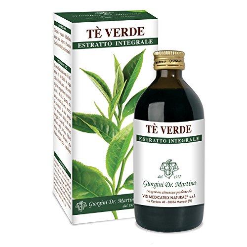 Dr. Giorgini Integratore Alimentare, Tè Verde Estratto Integrale Liquido Analcoolico - 200 ml