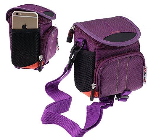 Navitech violet Digital Kamera Tasche Abdeckung für denCanon Powershot G7X Mark II (Abdeckung Kamera-canon)