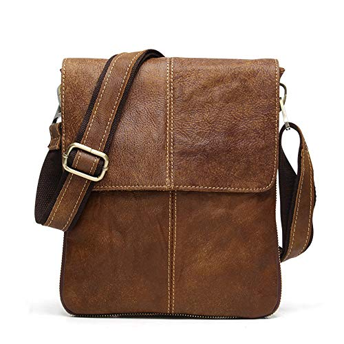 ür Männer, Schulterpaket Lässige Retro Business First Layer Leder Crossbody Messenger Bag,8613frostedleather ()