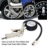 Bellveen Practical Air Tire Inflator with Accurate Dial Gauge for Vehicles, Cars, Bicycle