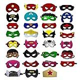OCMCMO Máscaras de Superhéroe Máscara,Juguetes para Niños y Niñas , Máscaras para Niños, Kit de Valor de Cosplay de diseño de Fiesta de cumpleaños de Navidad-31 Piezas