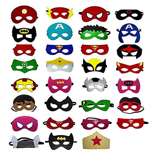 OCMCMO Máscaras de Superhéroe, máscaras disfraz superheroes niños, uguetes para Niños y...