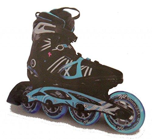 K2 Damen Inline Skate VO2 90 Speed BOA W Inlineskate, Schwarz/Blau, 9