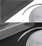 Euro Tische Fliegengitter ? Insektenschutz für Fenster mit Selbstklebendem Klettband ? Durchsichtiges Moskitonetz weiß