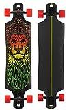 Santa Cruz Longboard Lion God Drop Thru, Black, 10.0x 40.0Pulgadas, sanlobl igodt