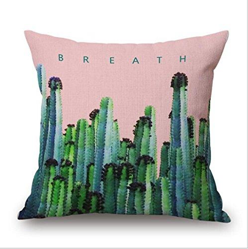 Longless Plantes tropicales et élégant bureau oreiller coussin canapé tissu en coton accueil kit kit oreiller
