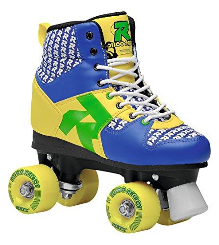 Roces Disco Palace Roller Skates, Damen, Disco Palace, Blau/Gelb, 36