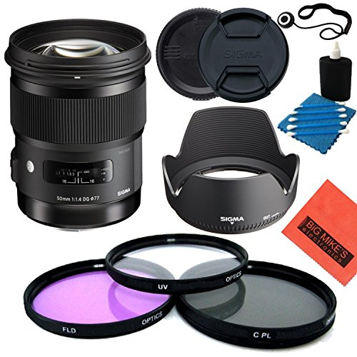 Sigma 50mm f1.4DG HSM Art Objektiv für Nikon DSLR Kameras-Starter Kit