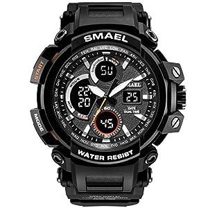 Anyeda Herren Uhren Fitness Smartwatch Outdoor Sport mit Schrittzähler Wasserdichte Multifunktion Damen Armbanduhr 4 Kinder Uhren Analog