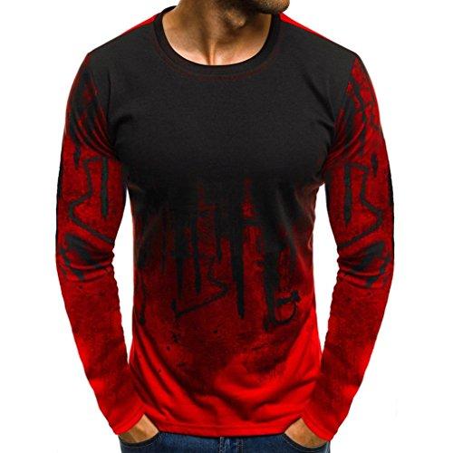 Sport T-Shirt Herren Sweatshirt Kanpola Slim Fit Langarm Shirt Bluse für Jogging Yoga Männer Tops Freizeit Pullover Langarmshirts...