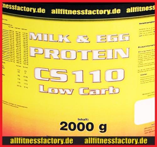 Milk & Egg Protein mit Whey LOW CARB 4kg Vanille Aspartamfrei (Vanille Protein Egg)