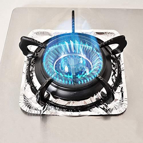 TAOtTAO Stove Burner Covers 10 stücke Gasherd Aluminiumfolie Papier Saubere Pad Hochtemperaturbeständige Abdeckungen (B)