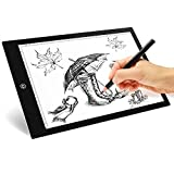 MVPOWER LED Copy Board,A4 Drawing Copy Tracing Light Boxes,Ultra Thin Pad,6 Levels Dimming for Tattoo Sketch Architecture Calligraphy Crafts For Artists,Drawing, Sketching A4